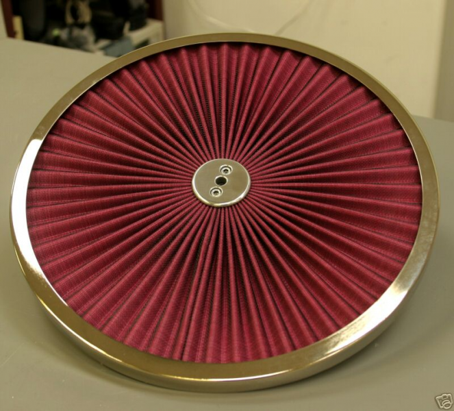 Extreme Airfiltertop 14 Inch Chrome